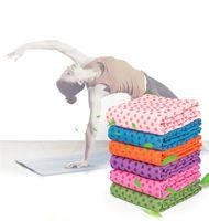 toalha de esteira de ioga antiderrapante venda por atacado-Silicone dot yoga cobertores toalhas Anti slip Yoga Tapete Toalhas de Fitness Exercício Cobertor de acampamento ao ar livre tenda toalhas de praia yoga Pilates pad