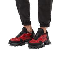 telas amarillas al por mayor-Zapatillas deportivas de punto para hombre Cloudbust Thunder de última colección, zapatillas de tela de gran tamaño Eyestay para hombre Botas de senderismo en rojo amarillo negro Talla 38-44