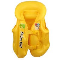 aufblasbare anzug kinder großhandel-Kinder Baby Sicherheit Schwimmen Schwimmweste Weste Baby Badebekleidung Anzug PVC Aufblasbare Pool Float Schwimmen Treiben Weste Hilfe Für Alter 3-6