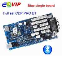 диагностический инструмент pro оптовых-Top Rated Single Board with Bluetooth 2014 R2 / 2015 R3 With Keygen New VCI OBD2 Scanner TCS CDP PRO plus Diagnostic Tool