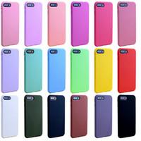couverture souple de téléphone portable achat en gros de-Nouveau pour iphone XS MAX XR X 6S 7 8 plus TPU silicone souple cas de téléphone portable mince ultra mince pas cher cas de téléphone portable couverture bonbons couleurs
