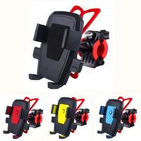 suporte para montagem de bicicleta para iphone venda por atacado-360 graus de rotação titulares de bicicleta suporte de bicicleta motocicleta guiador montar titular do telefone caso suporte de suporte de silicone banda para iphone samsung