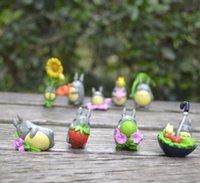 ingrosso pvc giapponese-(9pcs / lot) Il mio vicino Totoro Figura regali della bambola Nesin miniatura Miniature Giocattoli cinque centimetri in PVC Plactic giapponese bello sveglio Anime