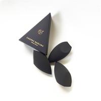 polvo 3d al por mayor-CHERRY DARLING 3D Definer Beauty Sopa de mezcla de maquillaje - Negro - Aplicador cosmético suave para polvos de base en crema líquida