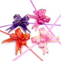 Wholesale tree purple flowers resale online - Lucia crafts cm Gift Ribbon birthday Party decoration Packing Pull Bow Ribbon Flower Accessories