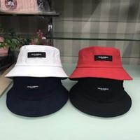 ağzı kesilmiş bezelye toptan satış-Yeni 4 renkler dg İtalya kova nakış şapkalar açık kapaklar erkekler kadınlar unisex kasketleri güneş şapka pamuk cimri ağız şapka