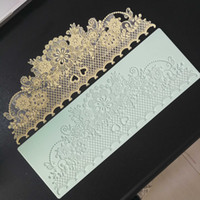 Wholesale lace silicone decoration for sale - Group buy New arrival Food grade Lace silicone mold fondant cake decoration moulds silicone lace mat T191018