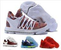 ingrosso kd scarpe uomo pasquale-KD 10 Basketball Shoes Uomini Uomini s Bianco Tennis BHM Kevin Durant 10 X Kds floreale zia Perle di Pasqua Sport scarpe da tennis atletiche