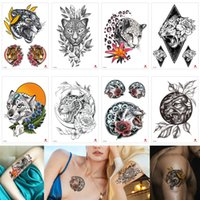 Wholesale makeup for legs for sale - Group buy Leopard Decal Temporary Tattoo Body Art Sticker Animal Fake Black Sexy Cool Waterproof Tattoo Makeup Painting for Male Female Party Beach D