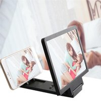 усилители оптовых-Модный Новый Новый Экран Мобильного Телефона 3D Увеличитель Видео Усилитель Экрана Складной Увеличенный Расширитель Стенд Модный Новый 3D Увеличитель Кронштейна