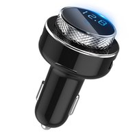 Wholesale New car MP3 bluetooth player Car fm transmitter qc3 fast charge car charger dhl free