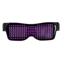 Wholesale infrared glasses for sale - Group buy Disco Wine Bar Dynamic Flashing LED Glasses Raves APP Customizable Light Up Glass USB Charging