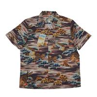 dong animal achat en gros de-BOB DONG Eagle Pine Tree Print Aloha Hawaiian Chemises Summer Vintage Tee Pour Hommes