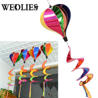 schwanzspinner groihandel-Großhandels-Heißluft-Ballon-Wind-Spinner-Regenbogen-Windsack-Garten-Yard-im Freiendekor mit Endstück-großem Regenbogen-Strand-Drachen
