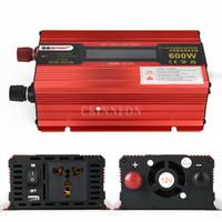Wholesale inverter 12v dc 24v for sale - Group buy 10Pcs Rated Power W Peak Power DC V V To AC V V Car LED Power Inverter Converter With USB Ports