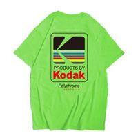 erkekler logosu t gömlekleri toptan satış-Kodak Logo Erkekler T-Shirt Fotoğrafçı Vintage Retro O-Boyun Tişörtleri Pamuk Casual Tee Gömlek Erkek Harajuku Üst XS-2XL