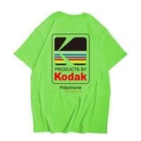 ingrosso magliette vintage in cotone-Kodak Logo Uomo T-Shirt Fotografo Vintage Retro O-Collo Magliette Cotone Casual Tee Shirts Uomo Harajuku Top XS-2XL