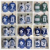 chandail de hockey tim horton achat en gros de-Rétro Maple Leafs de Toronto 7 Tim Horton Jersey classique vintage 75e anniversaire 13, Mats Sundin, Jersey broderie Un patch Cousu Hockey