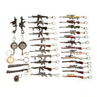 Wholesale bead gun for sale - Group buy PUBG Keychain Battle Grounds Keychain Helmet Pan K Gun Alloy Keyring Jewelry FPS Game Fans Gift llaveros mujer brelok jhgy