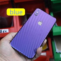Wholesale high quality fiber resale online - Carbon Fiber Phone Sticker For Iphone X XS MAX XR Plus High Quality Cellphone Film