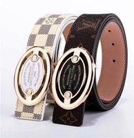 cinturones de cuero de diseñador para hombre blanco al por mayor-2019 Cinturón Para Mujer de Alta Calidad de Cuero Genuino Blanco y Negro Cinturón de cuero de Vaca Para Hombre Cinturón de Diseñador de Lujo Cinto masculino