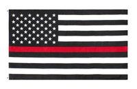 ingrosso linee degli stati uniti-commercio all'ingrosso diretto libero della fabbrica 3 da 5 ft poliestere Stati Uniti d'America del combattente di fuoco bandiera rossa sottile della linea
