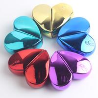 kalp şekilli şişeler toptan satış-25 ml Kalp Şeklinde Cam Taşınabilir Parfüm Şişeleri Doldurulabilir Boş Parfüm cam şişe Seyahat Kullanımı Parfüm sprey şişe T2I5239