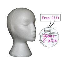 White Female Styrofoam Mannequin Manikin Head Model Foam Sponge Wig Hair Glasses Cap Storage Novelty Display Stand Home Decor