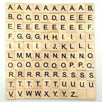 números de ferramentas venda por atacado-100 pcs / set de madeira do alfabeto Scrabble telhas 18 * 20 milímetros de madeira letras pretas Números crianças que soletram ferramenta de aprendizagem Brinquedos L408