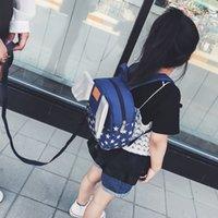 bebek sırt çantası kanatları toptan satış-Bebek Anti-kaybı Sırt Çantası Çocuk Sırt Çantası Kanatları Erkek ve Kız Anaokulu Bebek 1-3 Yaşında 2 Sevimli Sırt Çantası Gelgit
