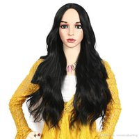 Wholesale lace wigs 1b 24 inch for sale - Group buy Cheap Long Natural Wavy Black B Hair Inch Glueless Synthetic Lace Front Wigs for Women Heat Resistant Natural Looking Full Lace Wig