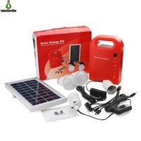 ingrosso alimentazione di emergenza-Sistema di energia solare domestica Alimentazione Sistema di illuminazione a LED solare Sistema di illuminazione a LED di ricarica di emergenza con 2 lampadine