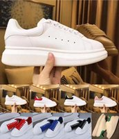 Wholesale mens comfortable brown shoes for sale - Group buy 2020 Designer Mens Women Shoe white leather suede black gold red comfortable flat Luxury sneakers Platform casual shoes size