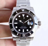 Wholesale factory watches for sale - Group buy U1 Factory Hot Wristwatches Sapphire Black Ceramic Bezel Stainless Steel mm LN Automatic Mechanical Mens Men Watch Watches