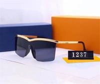modelos de óculos de sol polarizados venda por atacado-Óculos de sol de luxo óculos de sol designer de moda elegante de alta qualidade polarizada mens mulheres óculos modelo 1237 6 cores opcional com caixa