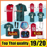 camiseta de fútbol tailandesa superior al por mayor-Camisetas de fútbol de calidad superior 2019 2020 Ajax FC Away uniformes 18 19 DOLBERG ZIYECH HUNTELAAR YOUNES HOMBRE Ajax Camiseta de fútbol con calcetines