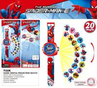 bilder uhren großhandel-Neue prinzessin spiderman kinder uhren projektion cartoon muster digitale kind uhr für jungen mädchen led display 20 bild 3d projektionsuhr