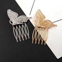 haare tuck kamm großhandel-Europäische USA Hot Selling Fashion Make-up Tuck Kamm für Frauen-Mädchen-Hochzeits-Verpflichtungs Schmetterlings-Haar-Grip