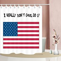 Wholesale polyester fabric flags for sale - Group buy British news and American flag waterproof Shower curtain Durable Fabric Mildew Bathroom Accessories Creative with Hooks X180CM