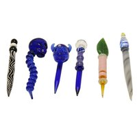Wholesale nails factory price resale online - Glass Dabber Cap Glass Dabber Tools Dab Rig Nail Skull Head Ball Carb Cap For Quartz Nail Glass Water Bong Pipes Factory Price