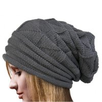 Wholesale crochet baggy hats for sale - Group buy Fashion Autumn Men Women Crochet Hat Knit Oversize Baggy Slouchy Beanie Warm Winter Cap Ski Cap Unisex Woolen Hats Invierno D