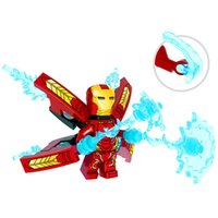 Wholesale kids building toys for sale - Iron Man Building Blocks Toys cartoon Bricks For Kids Holiday Birthday Gifts Model Building C6711