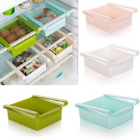 gefrierschrank organisatoren großhandel-Küche kühlschrank lagerregal kühlschrank gefrierschrank regal halter ausziehbare schublade organizer raumwunder organizer 4 farbe wx9-1319