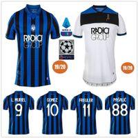 bc toptan satış-2019 2020 Atalanta B.C. Ev Futbol Formaları L. MURIEL ILICIC GOMEZ FEULE DUVAN DE ODASI PASALIC Özel 19 20 Atalanta BC Mavi Futbol Gömlek