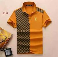tigerhemden plus größen großhandel-2018 Wholesale clothing Männer G T-Shirts Vollbild Tiger Druck Hip Hop Kleidung Herren Designer Shirts plus Größe blau Khaki 815