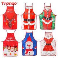 Wholesale candles black color for sale - Group buy Tronzo Christmas Apron Color Printing Waist Cartoon Dress Couple Sexy Uniforms Christmas Decoration For Home New Year Navidad