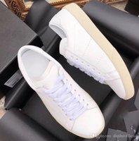 moda casual homens cinto branco venda por atacado-Luxo pouco sapatos brancos venda quente de estudantes homens e mulheres amantes pouco sapatos brancos esportes calçados casuais caminhadas moda cinto de couro com