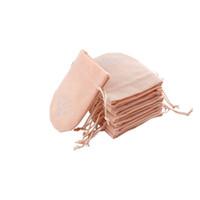 kordelbeutel rosa groihandel-8x10cm Hot Pink Small Velvet Drawstring Bags Schmuck Charms Geschenkverpackungsbeutel Wedding Favor Cute Velvet Gift Bag