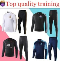 erkekler için eşofman toptan satış-2020 yeni gerçek madrid psg yetişkin eşofman survetement ayak futbol chándal futbol Survetement Marsilya eğitim takım elbise 19 20 erkek tasarımcı