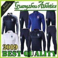 adam jones jersey cinza venda por atacado-Nova melhor qualidade 2018-2019 2 STAR survetement equipe MAILLOT DE FOOT França Paris SURVETEMENT FOOTBALL Fatos de treino Fatos